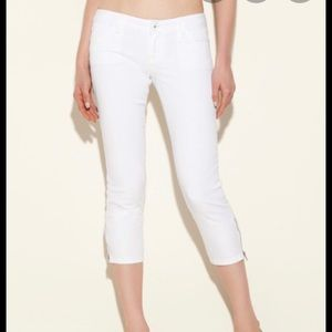 NWOT GUESS White Cropped Skinny Jeans XS 24 25